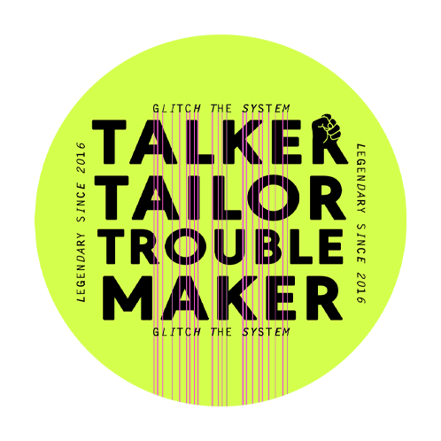 Logo - Talker Tailor Trouble Maker